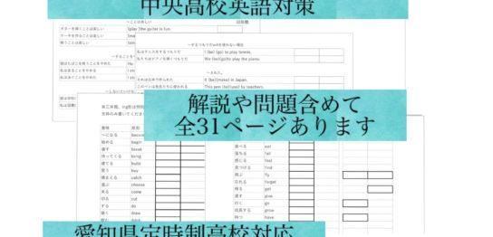 名古屋市中央高校英語対策
